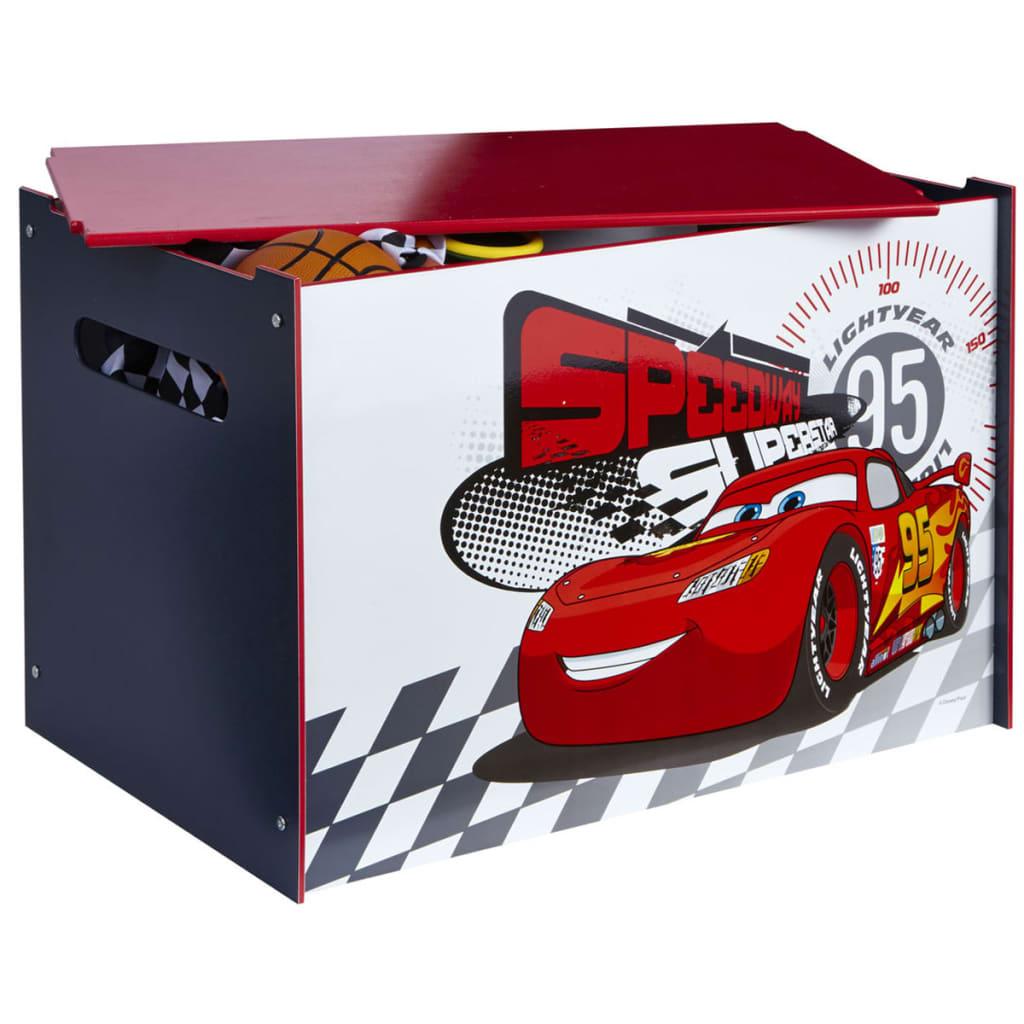 Afbeelding van Disney Speelgoedkist Cars 60x40x40 cm hout rood WORL320013