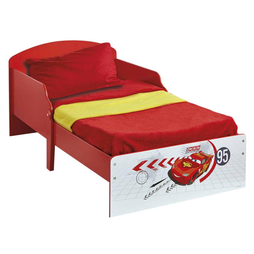 Disney Łóżko dziecięce Auta, 142x59x77 cm, czerwone, WORL320002