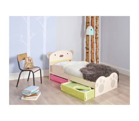 Add Some Fun To Your Childs Cot Bed Transition With This Worlds Apart Bear Bug Toddler It Has A Friendly Headboard That Will Make Kids