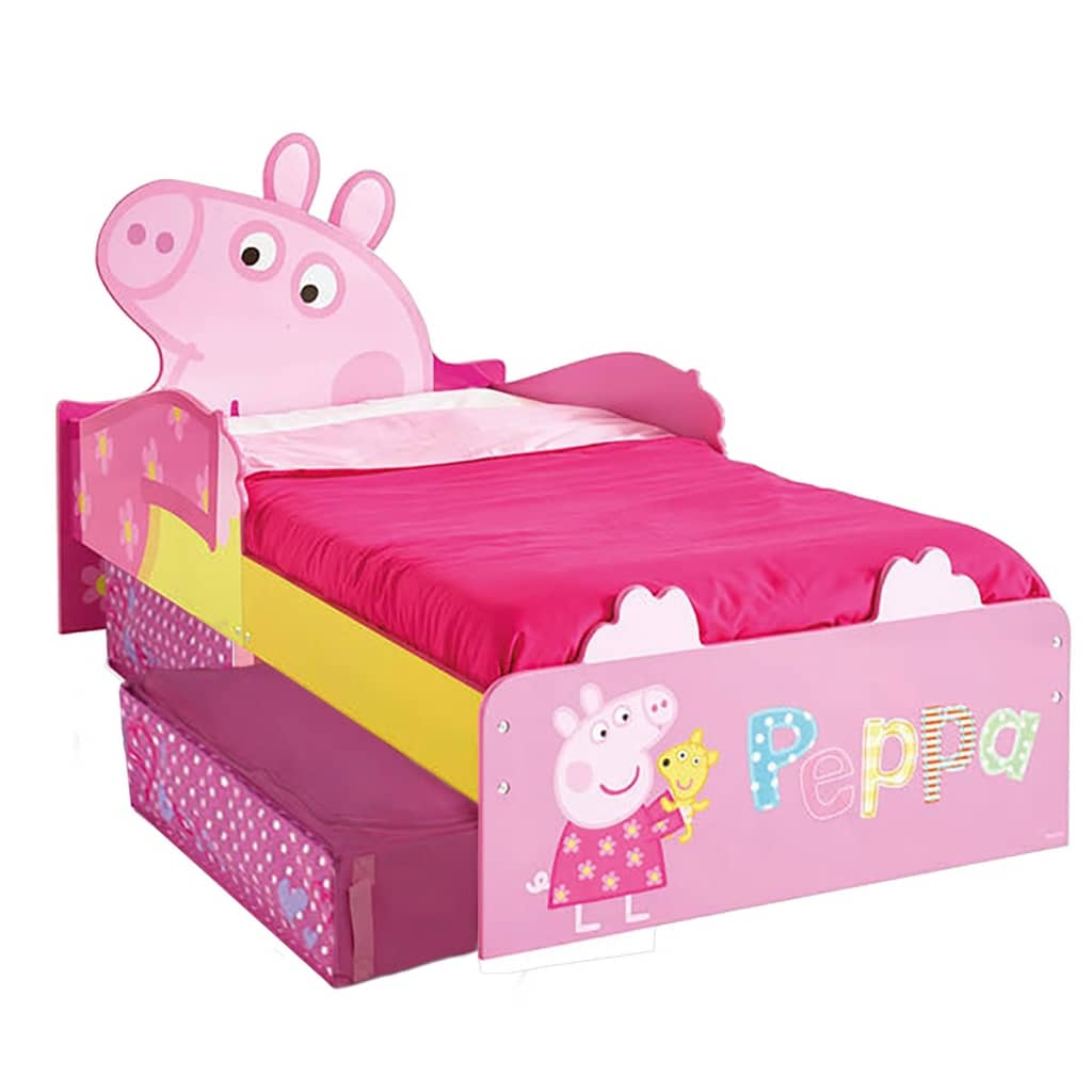 Peppa Pig Pat de copii, cu sertare, 140 x 70 cm, roz, WORL213010 poza vidaxl.ro