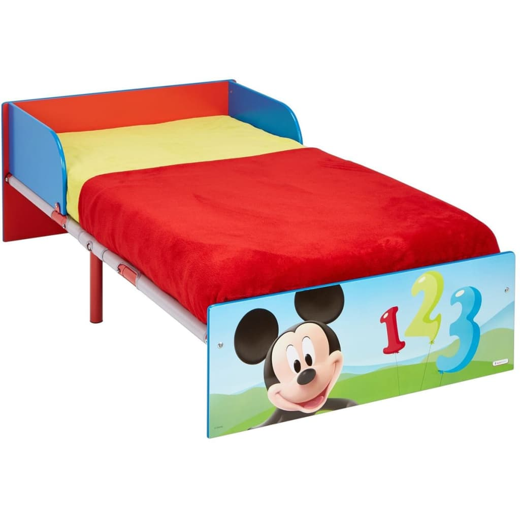 Image of Disney Lettino Mickey Mouse 143x77x43 cm Rosso WORL119013