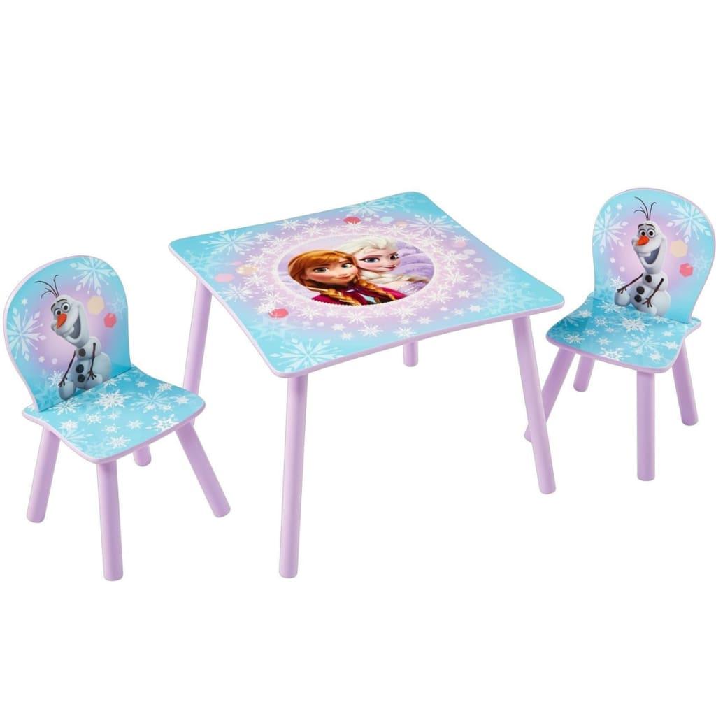 Afbeelding van Disney Tafel en stoelen set 3-delig Frozen 63x63x45 cm WORL234027