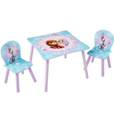 Disney Three Piece Table and Chairs Set Frozen 63x63x45 cm WORL234027[1/6]
