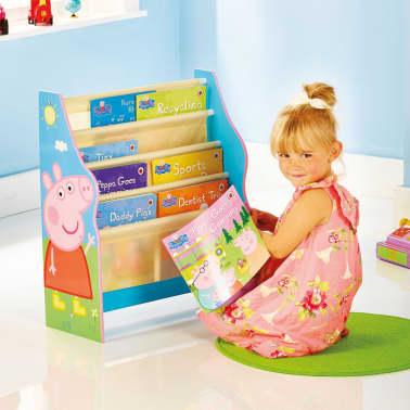 peppa pig kinder b cherregal 51 x 23 x 60 cm blau. Black Bedroom Furniture Sets. Home Design Ideas
