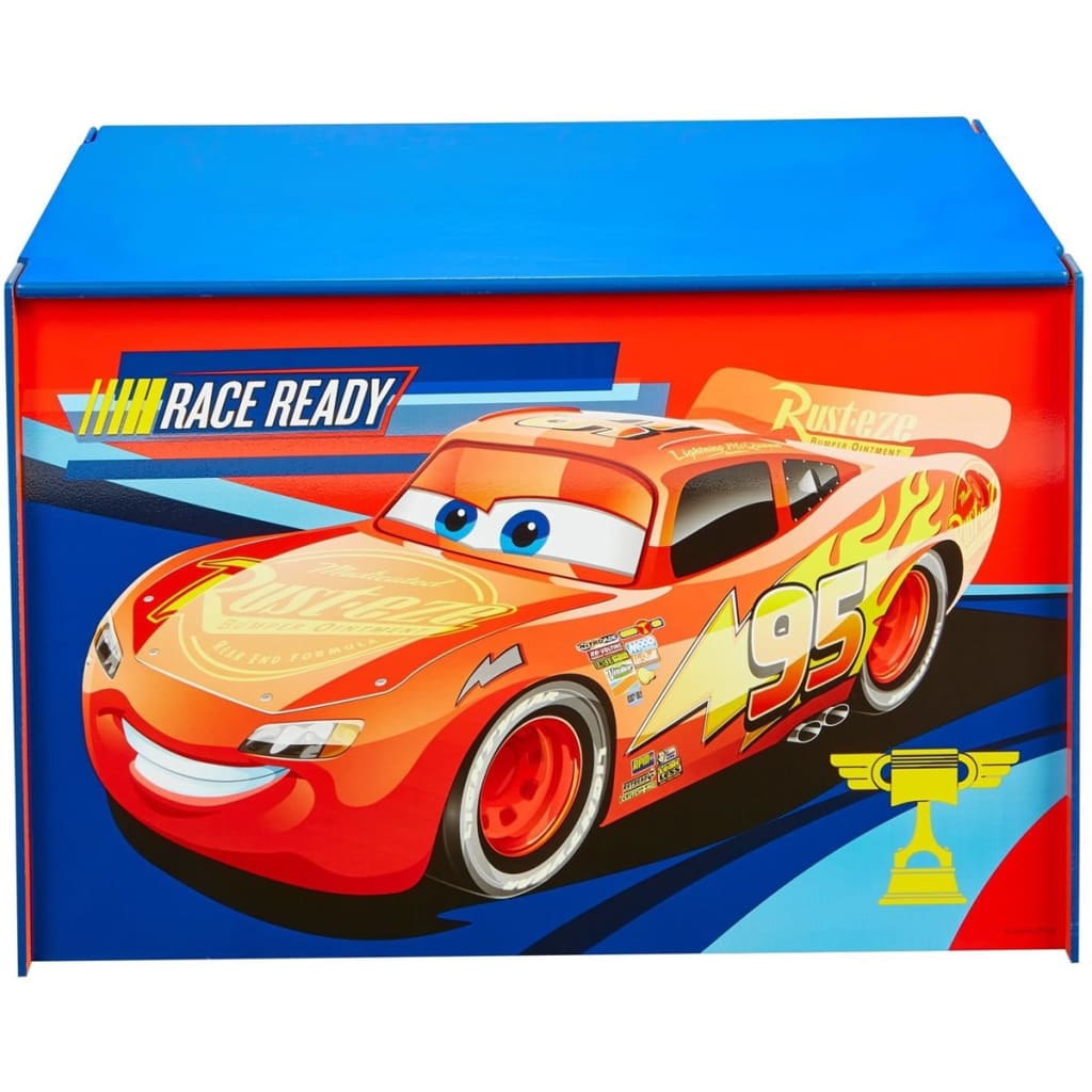 Afbeelding van Disney Speelgoedkist Cars 60x40x40 cm hout blauw WORL320020