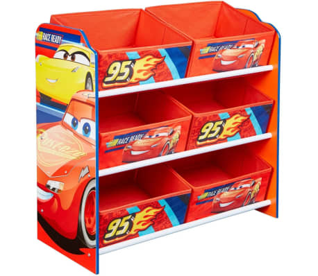 disney aufbewahrungsregal cars mit 6 boxen 60x30x64 cm. Black Bedroom Furniture Sets. Home Design Ideas