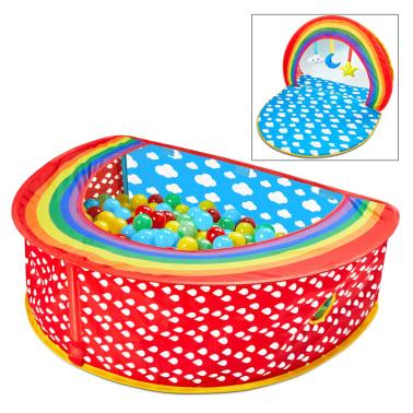 Worlds Apart Piscina de bolas Pop-up Rainbow multicolor 100x76x30 cm[1/10]