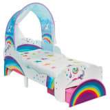 Worlds Apart Vaikiška lova su stalčiumi, 142x77x128cm, su vienaragiais