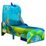 Worlds Apart Lit enfant et tiroir Dinosaures 142x77x138cm Bleu et vert