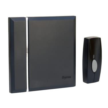 Byron Trådlös dörrklocka med 4 ljudsignaler svart[1/2]
