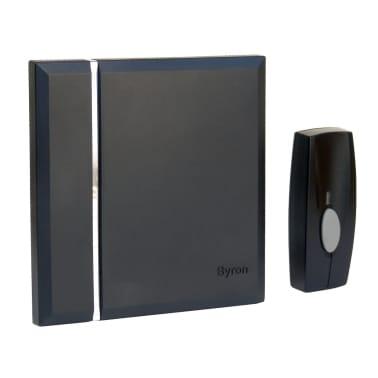Byron Trådlös dörrklocka med 4 ljudsignaler svart[2/2]