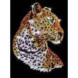 Tableau Sequin Art Léopard - Sequin Art