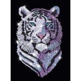 Tableau Sequin Art Tigre des Neiges - Sequin Art