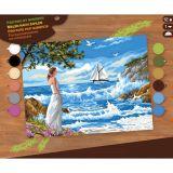 Tableau peinture au numéro L'appel de la mer - KSG