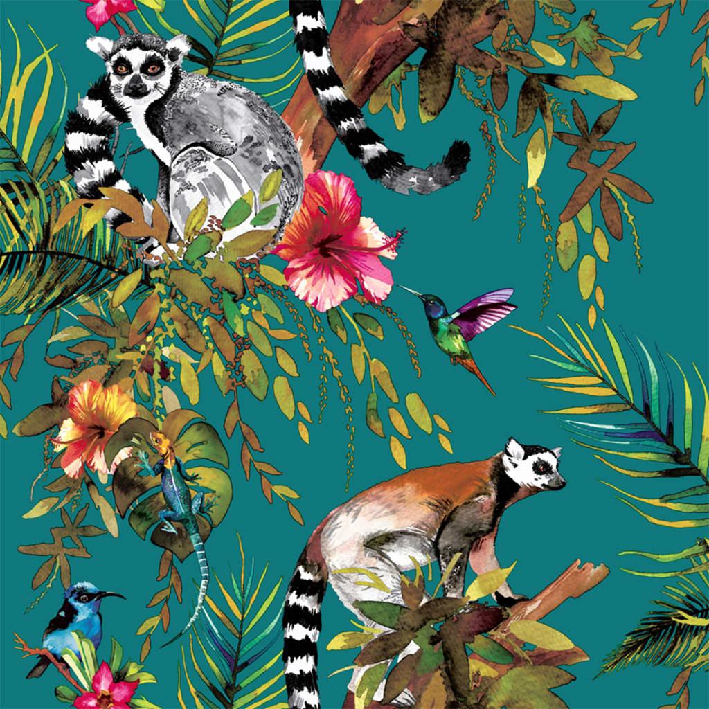 Afbeelding van DUTCH WALLCOVERINGS Behang aap groen 12402