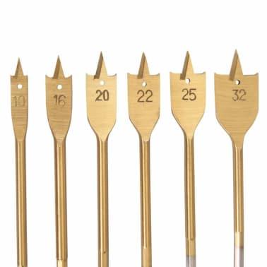6 mèches à bois plates tin d.10, 16, 20, 22, 25 et 32 mm[2/2]