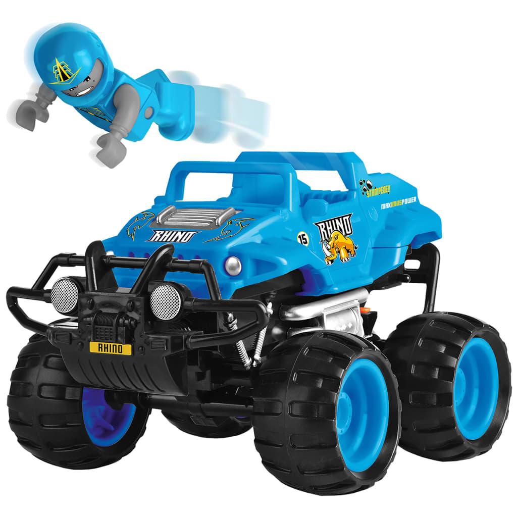 Afbeelding van Monster Smash-Ups Toyrific Smash Ups Monstertruck Rhino blauw 23 cm