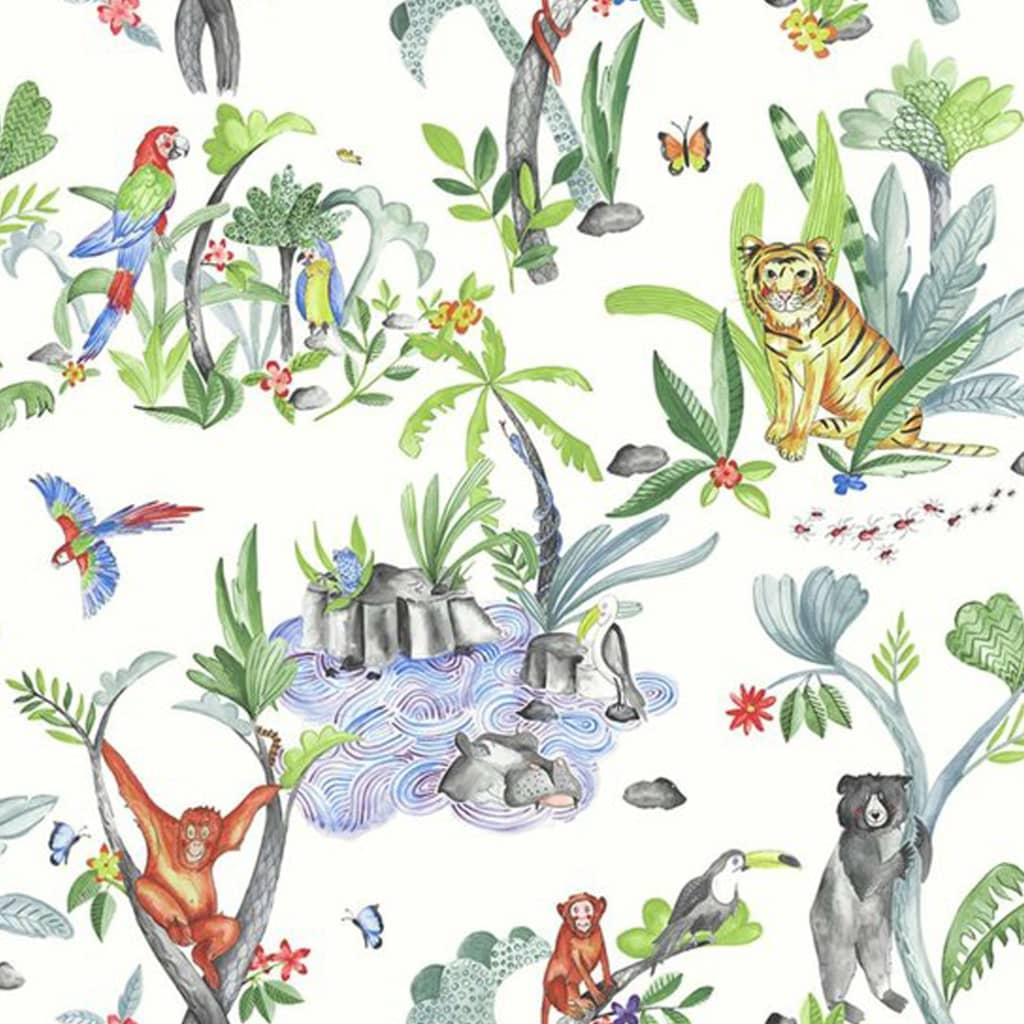 DUTCH WALLCOVERINGS tapet Jungle Mania flerfarvet