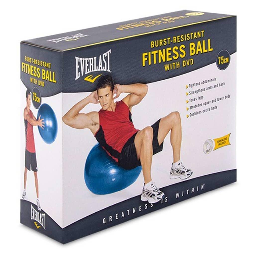 EVERLAST Oppblåsbar treningsball 75 cm blå
