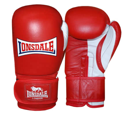 LONSDALE Bokserskie rękawice sparingowe Pro Safe, czerwone, 14 oz