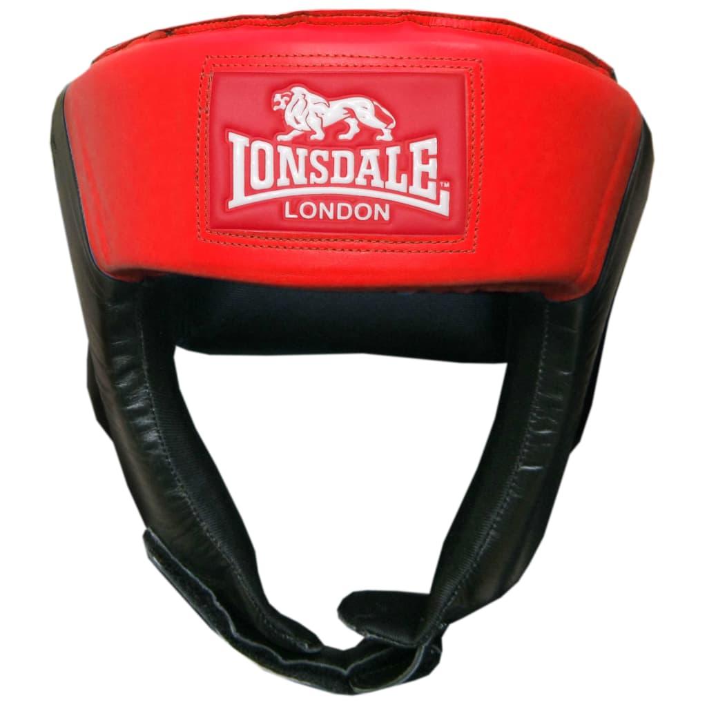 LONSDALE Caschetto da Boxe Aperto S Rosso