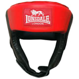 LONSDALE Jab Open Face Headguard S Red