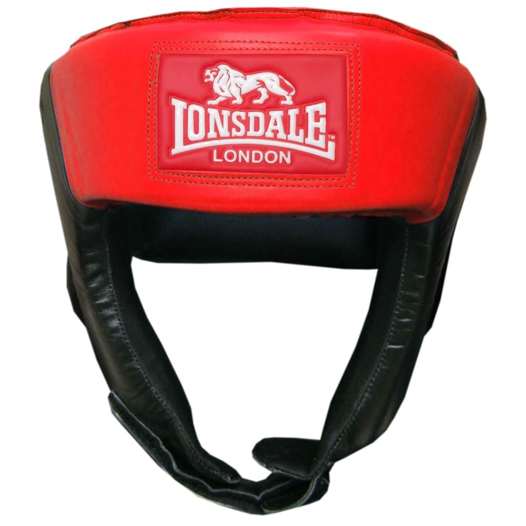 LONSDALE Caschetto da Boxe Aperto M Rosso