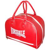 LONSDALE Skórzana torba sportowa, czerwona