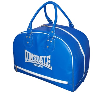 LONSDALE Skórzana torba sportowa, niebieska[1/2]