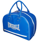 LONSDALE Skórzana torba sportowa, niebieska
