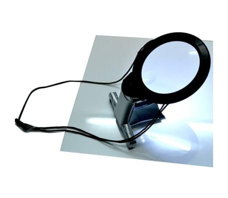 L/öten Leselupe Tischlupe Vergr/ö/ßerungsglas f/ür Senioren Lesen Handarbeiten Inspektion 2X 6X Neck Hung LED Licht Beleuchtete Lupe mit St/änder Reparatur /& Hobby