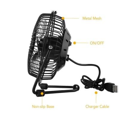 Ventilateur USB pour le bureau /desktop | Faible bruit, 2 vitesses, 36[5/7]