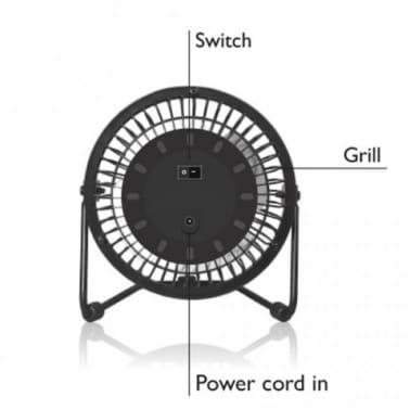 Ventilateur USB pour le bureau /desktop | Faible bruit, 2 vitesses, 36[4/7]