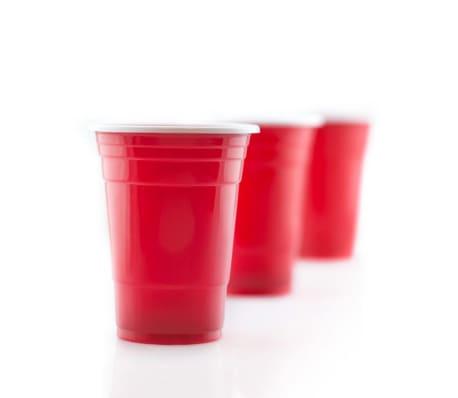 Vasos de Plstico Desechables Color Rojo Manzana | Para Fiestas - 16o[2/7]
