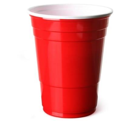 Vasos de Plstico Desechables Color Rojo Manzana | Para Fiestas - 16o[3/7]