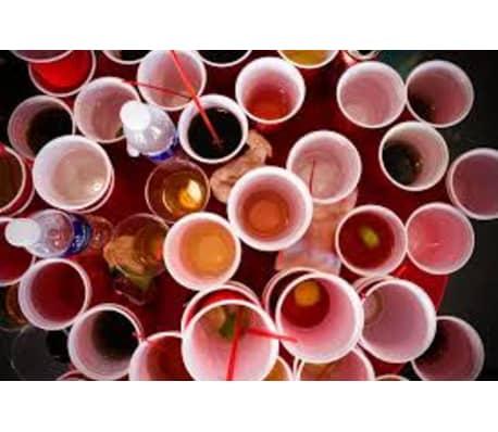 Vasos de Plstico Desechables Color Rojo Manzana | Para Fiestas - 16o[6/7]