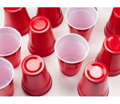 Vasos de Plstico Desechables Color Rojo Manzana | Para Fiestas - 16o[7/7]