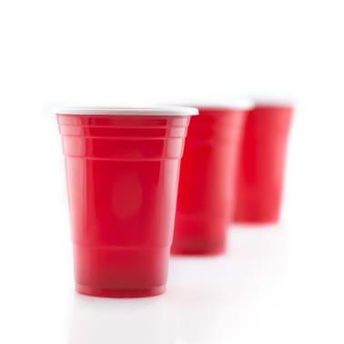 Vasos de Plstico Desechables Color Rojo Manzana | Para Fiestas - 16o[1/7]