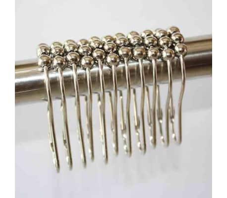 anneaux pour rideaux de douche avec crochet coulissant en mtal 12. Black Bedroom Furniture Sets. Home Design Ideas