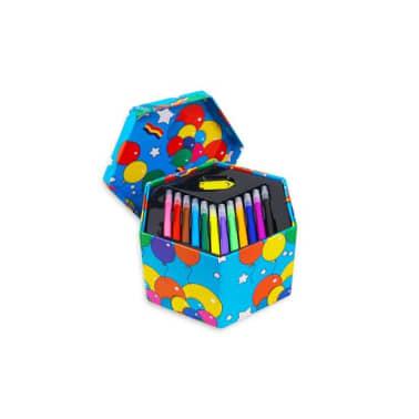 52pcs   Bote de papeterie pour enfants   Avec feutres, crayons de co[3/7]
