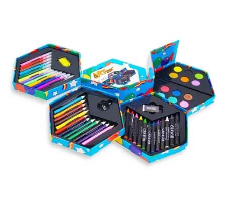 52pcs   Bote de papeterie pour enfants   Avec feutres, crayons de co[1/7]