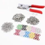 100 Set 10 Farben Druckknopf Druckknoepfe Open Ring and Zange Werkzeug