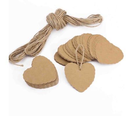 100x Chanes En Forme De Coeur En Papier Pendentifs Cadeaux tiquett[1/7]