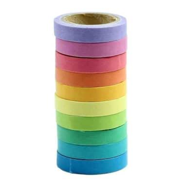 10x Dekorative Regenbogen Klebeband Papier Washi Masking Tape Klebeban[3/7]