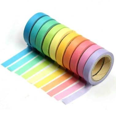 10x Dekorative Regenbogen Klebeband Papier Washi Masking Tape Klebeban[1/7]