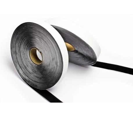 5m Gancho y Bucle, 20mm Ancho con adhesivo color Negro