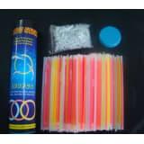 100 Glow Sticks / Bracelet. 7 Color Mix. Premium-Class! Factory-Fresh!