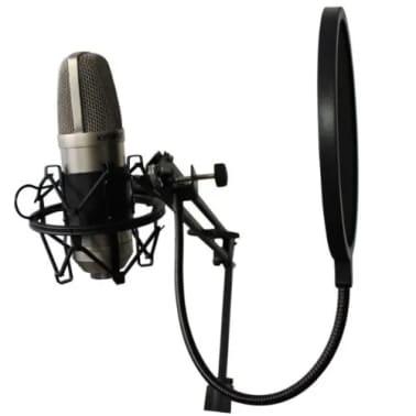 Studio Mikrofon Mikro Windschutz Popfilter/ Drehhalterung, 360 Grad, f[4/7]