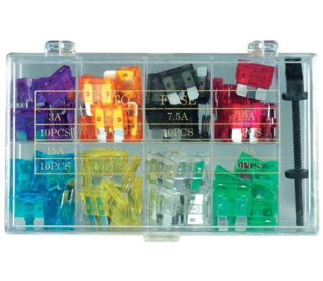 100 tlg KFZ-Sicherungen Set mini (8 Werte und Sicherungszieher)[3/7]