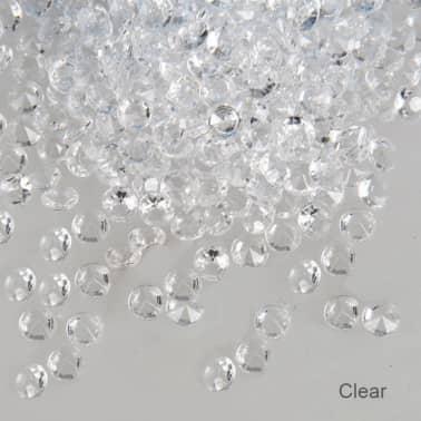 1000 Confettis Clairs 6,5 Mm Mariage Dcoration De Table Saupoudre[7/7]